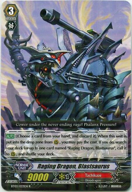Cardfight Vanguard Demonic Lord Invasion Rare Raging Dragon, Blastsaurus BT03-033