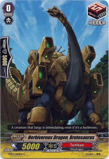 Cardfight Vanguard Demonic Lord Invasion Common Herbivore Dragon, Brutesaurus BT03-060