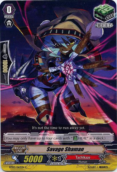 Cardfight Vanguard Demonic Lord Invasion Common Savage Shaman BT03-062