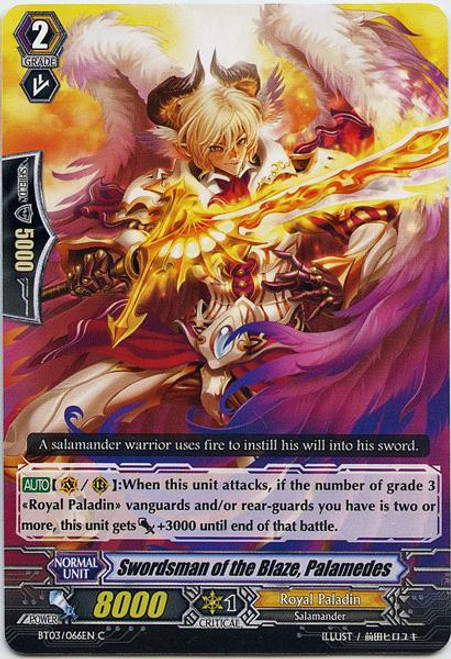 Cardfight Vanguard Demonic Lord Invasion Common Swordsman of the Blaze, Palamedes BT03-066