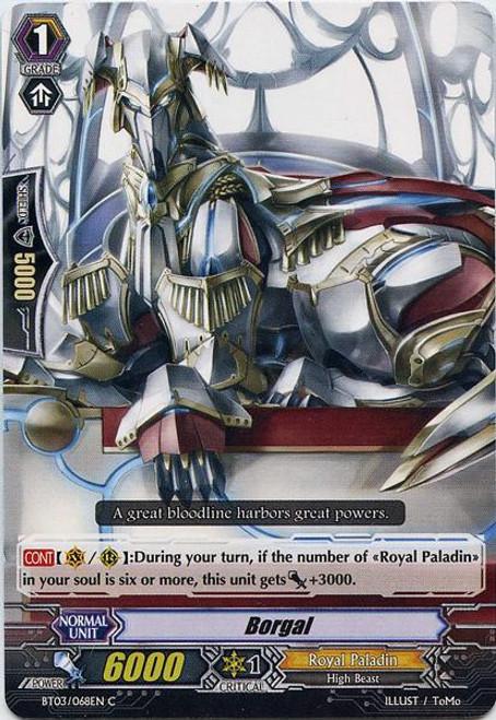 Cardfight Vanguard Demonic Lord Invasion Common Borugal BT03-068