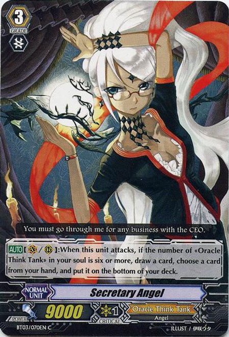 Cardfight Vanguard Demonic Lord Invasion Common Secretary Angel BT03-070