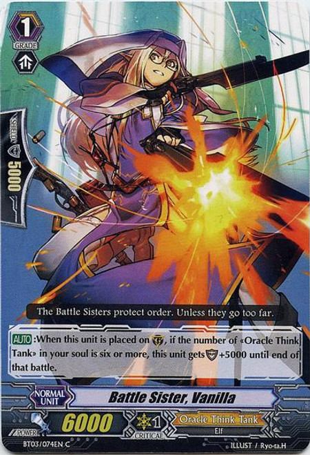 Cardfight Vanguard Demonic Lord Invasion Common Battle Sister, Vanilla BT03-074