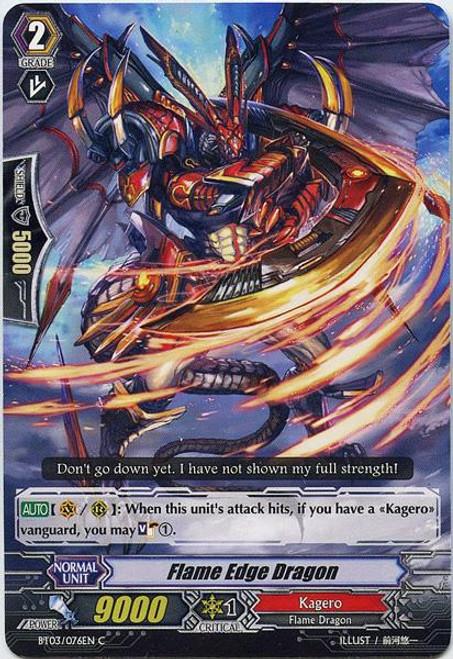 Cardfight Vanguard Demonic Lord Invasion Common Flame Edge Dragon BT03-076