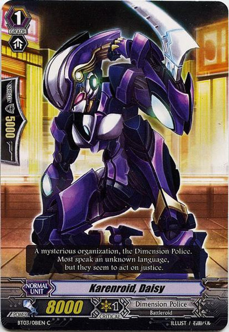 Cardfight Vanguard Demonic Lord Invasion Common Karenroid Daisy BT03-081
