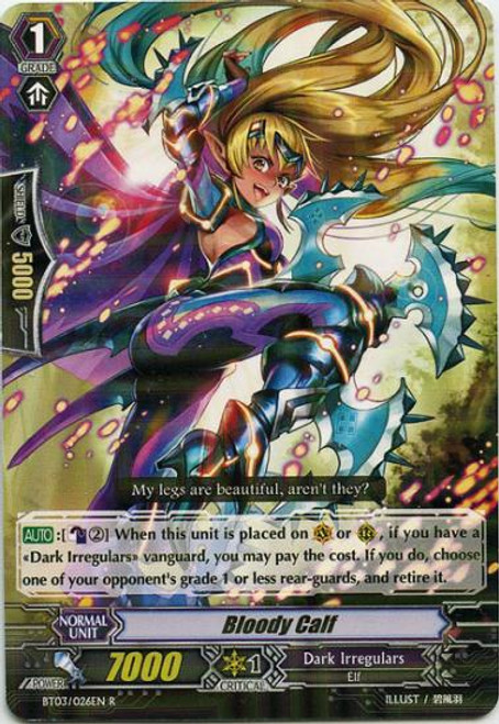 Cardfight Vanguard Demonic Lord Invasion Rare Bloody Calf BT03-026