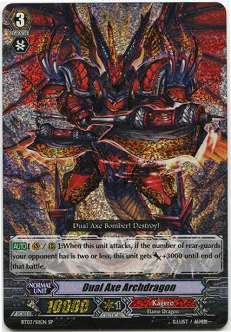 Cardfight Vanguard Demonic Lord Invasion SP Dual Axe Archdragon BT03-S11