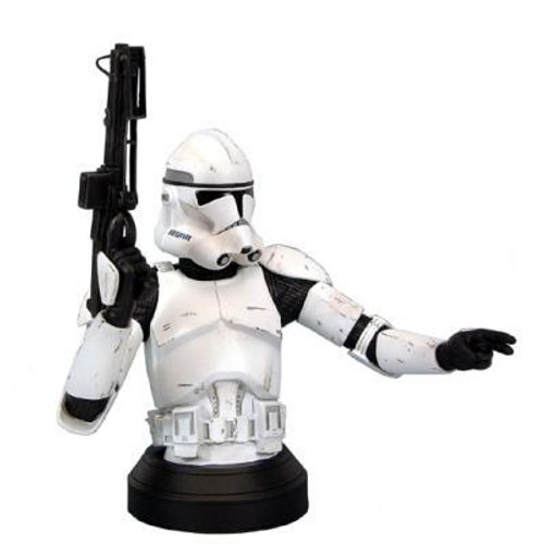 Star Wars Mini Busts White Armor Clone Trooper Exclusive Mini Bust