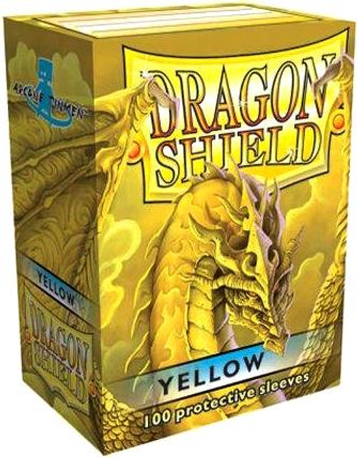 Card Supplies Dragon Shield Yellow Standard Card Sleeves [100 ct]
