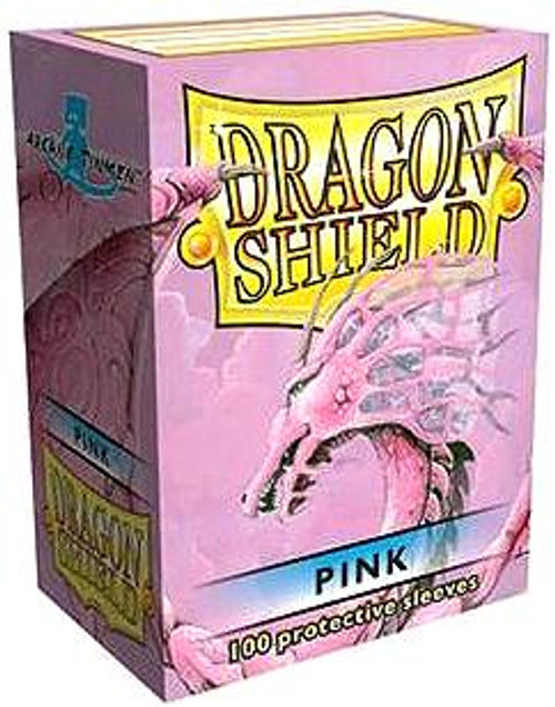 Card Supplies Dragon Shield Pink Standard Card Sleeves [100 ct]