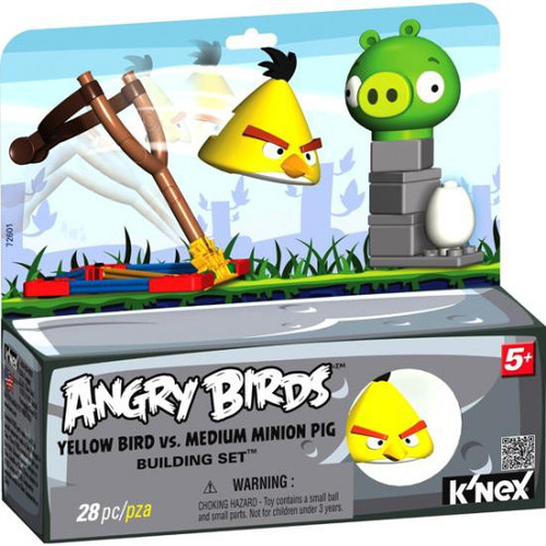 K'NEX Angry Birds Yellow Bird Vs. Medium Minion Pig Set #72601