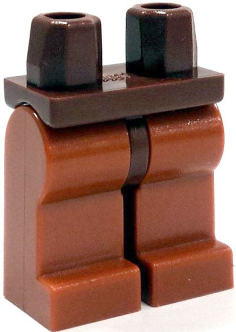 LEGO Minifigure Parts Reddish Brown Hips with Dark Orange Legs Loose Legs [Loose]