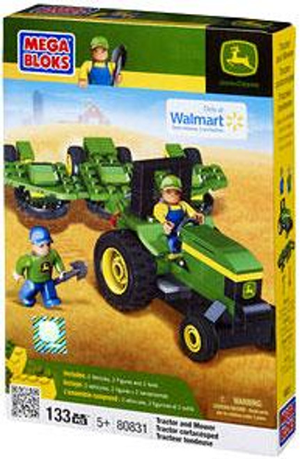 Mega Bloks American Builders John Deere Tractor & Mower Exclusive Set #80831
