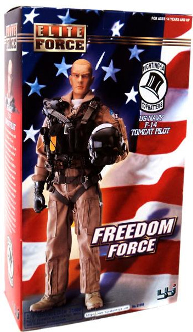 Elite Force Freedom Force US Navy F-14 Tomcat Pilot Action Figure