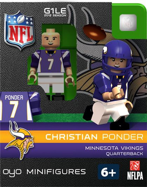 Minnesota Vikings NFL Generation 1 2012 Season Christian Ponder Minifigure