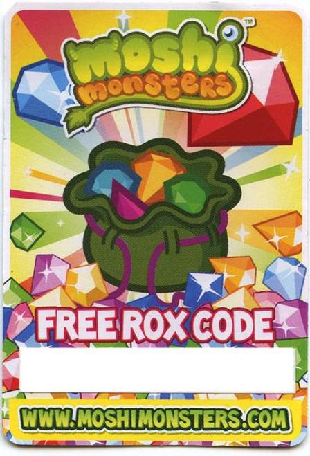 Moshi Monsters Free Rox Code Card
