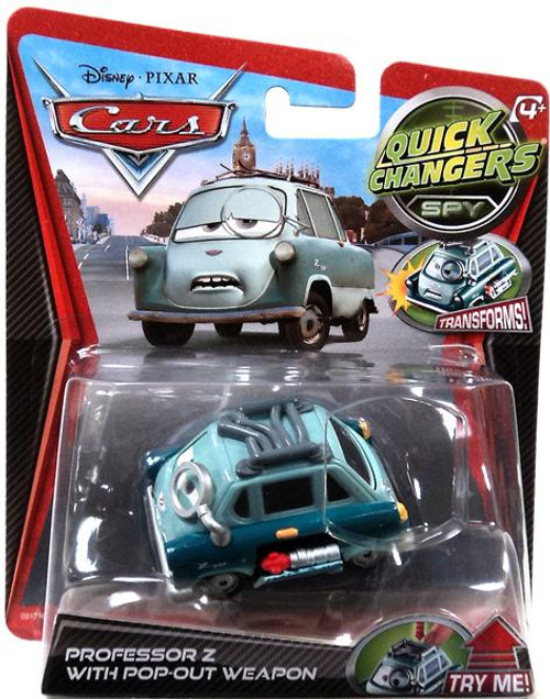 Disney Cars Quick Changers Spy Professor Z with Pop-Out Weapon Diecast Car