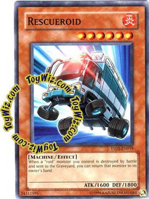 YuGiOh GX Syrus Truesdale Starter Deck Common Rescueroid YSDS-EN019