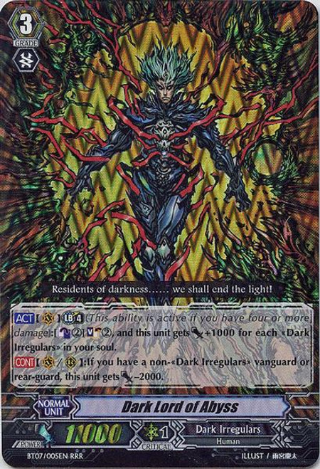 Cardfight Vanguard Rampage of the Beast King Triple Rare RRR Dark Lord of Abyss BT07-005