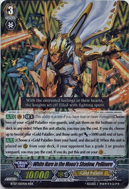 Cardfight Vanguard Rampage of the Beast King Triple Rare RRR White Hare in the Moon's Shadow, Pellinore BT07-007