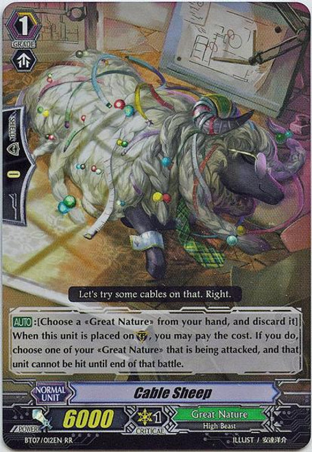 Cardfight Vanguard Rampage of the Beast King Double Rare RR Cable Sheep BT07-012