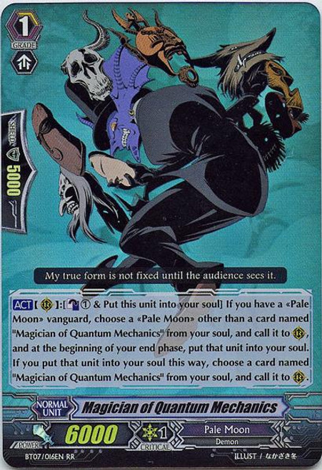 Cardfight Vanguard Rampage of the Beast King Double Rare RR Magician of Quantum Mechanics BT07-016