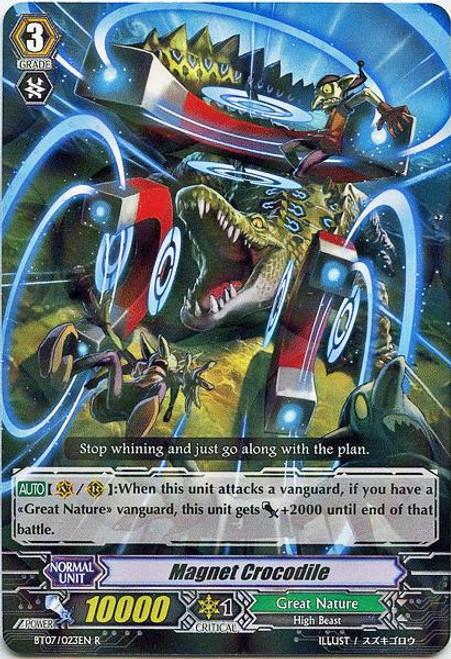 Cardfight Vanguard Rampage of the Beast King Rare Magnet Crocodile BT07-023