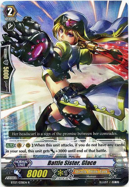 Cardfight Vanguard Rampage of the Beast King Rare Battle Sister, Glace BT07-038