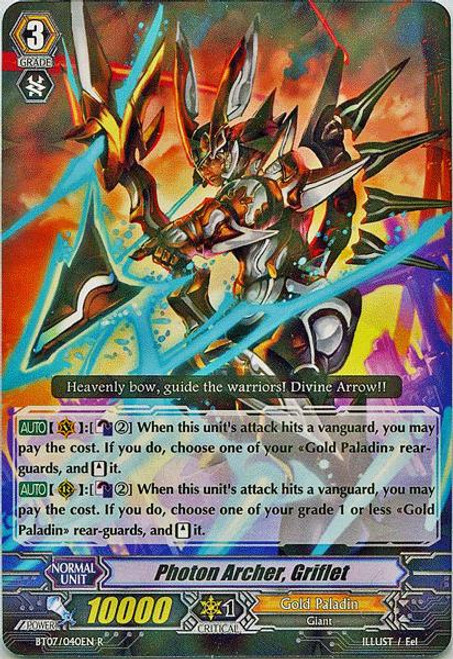 Cardfight Vanguard Rampage of the Beast King Rare Photon Archer, Griflet BT07-040