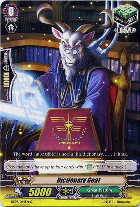 Cardfight Vanguard Rampage of the Beast King Common Dictionary Goat BT07-064