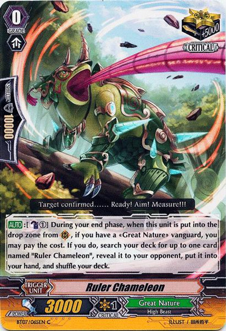 Cardfight Vanguard Rampage of the Beast King Common Ruler Chameleon BT07-065