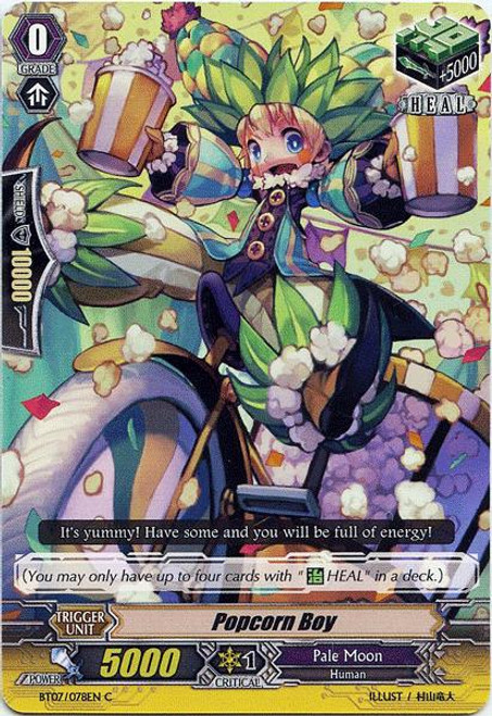 Cardfight Vanguard Rampage of the Beast King Common Popcorn Boy BT07-078