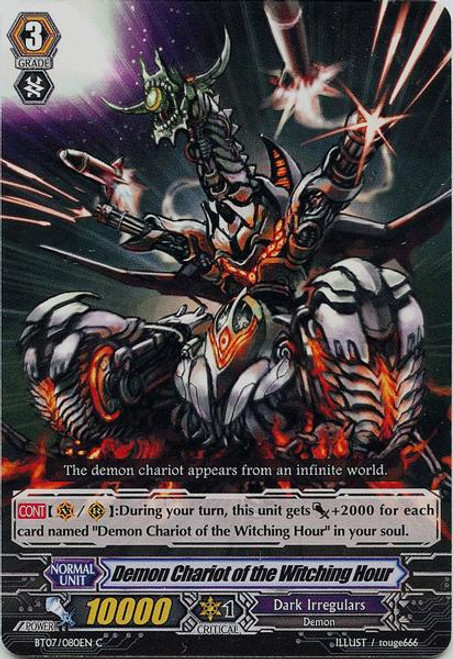 Cardfight Vanguard Rampage of the Beast King Common Demon Chariot of the Witching Hour BT07-080