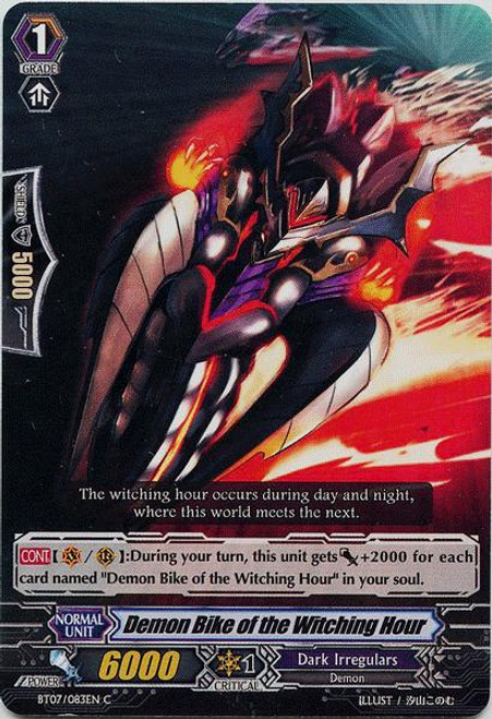Cardfight Vanguard Rampage of the Beast King Common Demon Bike of the Witching Hour BT07-083
