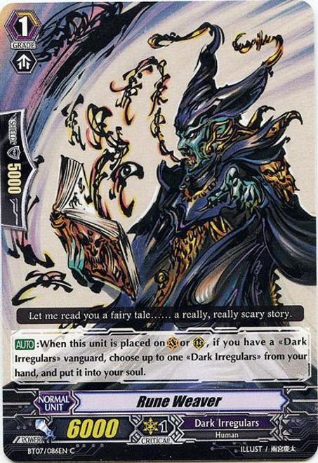 Cardfight Vanguard Rampage of the Beast King Common Rune Weaver BT07-086