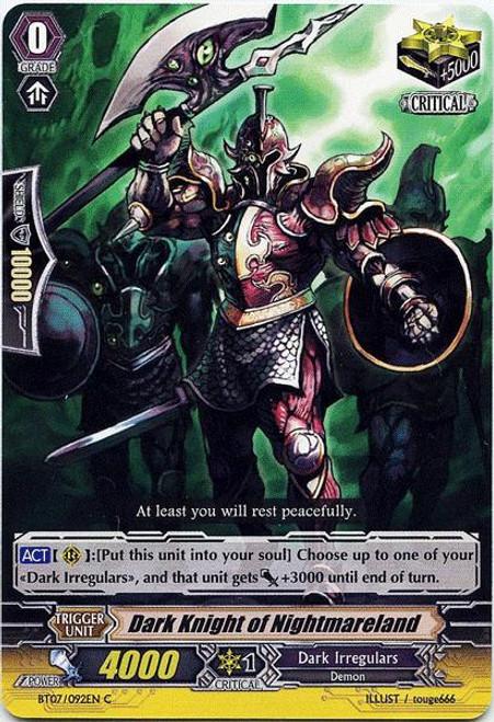 Cardfight Vanguard Rampage of the Beast King Common Dark Knight of Nightmareland BT07-092