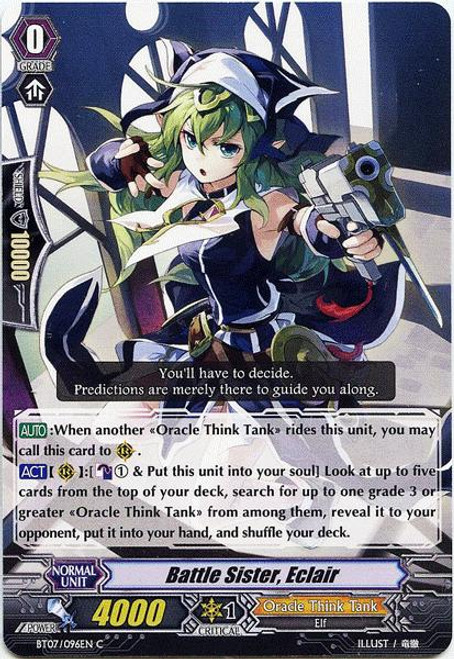 Cardfight Vanguard Rampage of the Beast King Common Battle Sister, Eclair BT07-096
