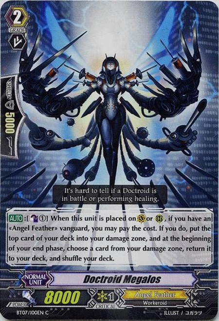 Cardfight Vanguard Rampage of the Beast King Common Doctroid Megalos BT07-100