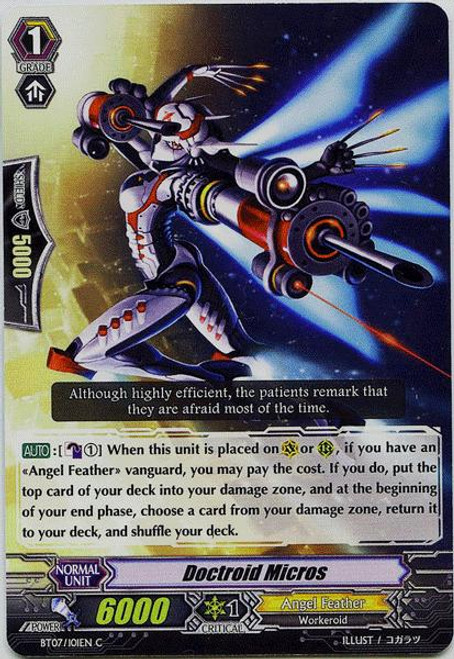 Cardfight Vanguard Rampage of the Beast King Common Doctroid Micros BT07-101
