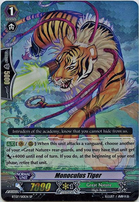 Cardfight Vanguard Rampage of the Beast King SP Rare Monoculus Tiger BT07-S10EN