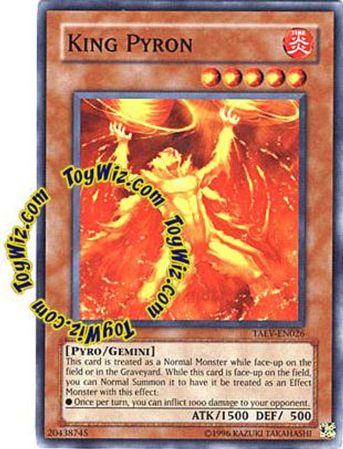YuGiOh GX Tactical Evolution Common King Pyron TAEV-EN026