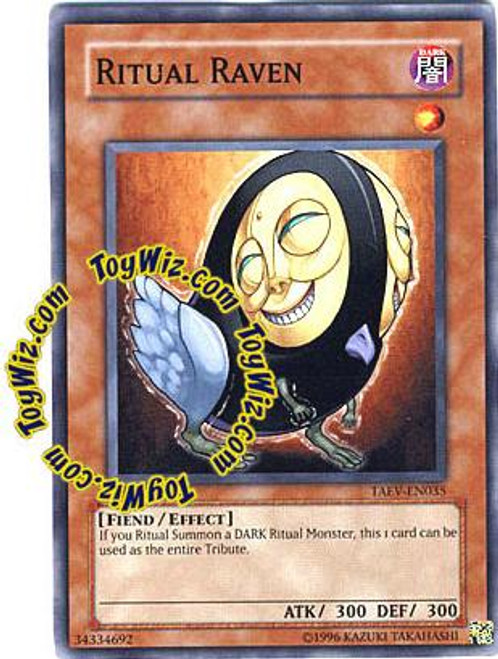 YuGiOh GX Tactical Evolution Common Ritual Raven TAEV-EN035