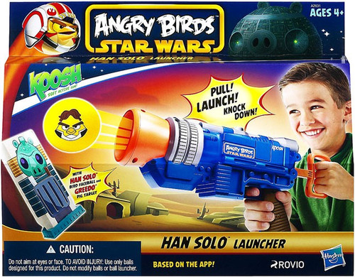 Star Wars Angry Birds Koosh Han Solo Launcher Roleplay Toy