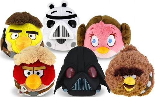 Star Wars Angry Birds Set of 6 Deluxe 8 Inch 8-Inch Plush