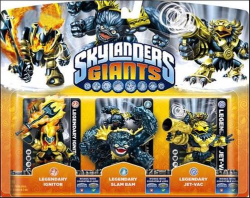 Skylanders Giants Legendary Ignitor, Slam Bam & Jet-Vac Exclusive Figure 3-Pack