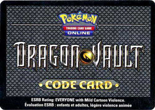 Dragon Vault Online Code Card Promo Code Card for Pokemon TCG Online