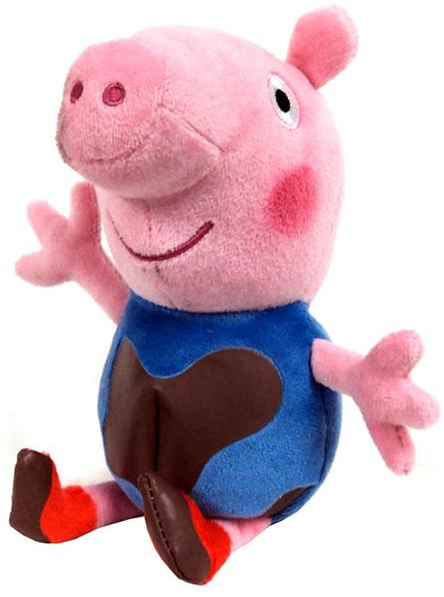Beanie Babies Peppa Pig Muddy Baby George Exclusive Beanie Plush