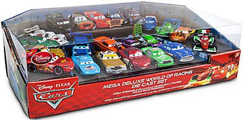 Disney Cars 1:48 Multi-Packs Mega Deluxe World of Racing Exclusive Diecast Car Set