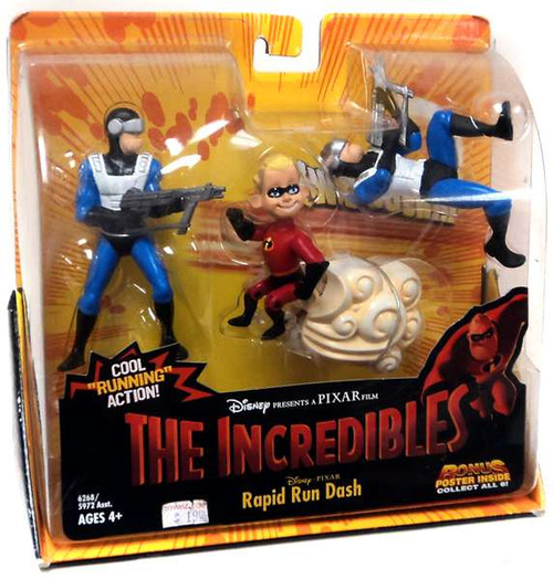 Disney / Pixar The Incredibles Rapid Run Dash Action Figure Set