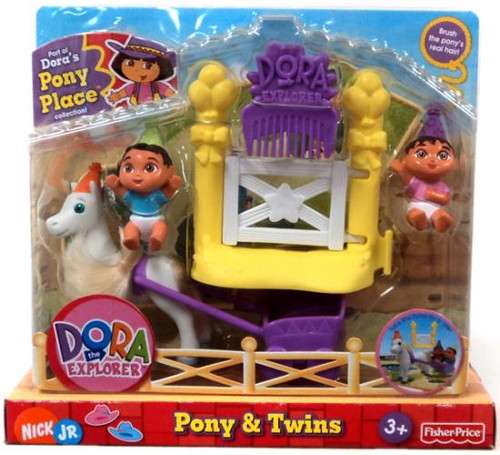 Fisher Price Dora the Explorer Dora's Pony Palace Collection Pony & Twins Figure Pack